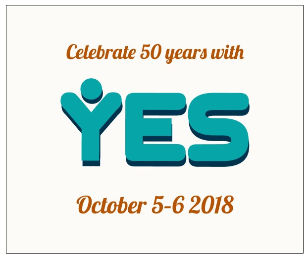 Celebrate 50 years with Y.E.S. Graphic